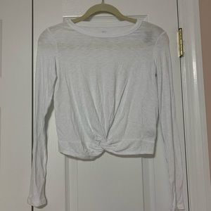 Aerie Knot Front Long Sleeve Tee